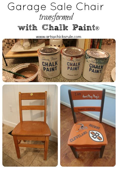 chalk paint sles garage sale chair transformed with chalk paint 174 artsy