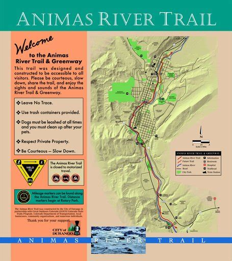 animas river map animas river trail maplets