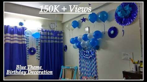 background decoration for birthday party at home birthday decorations ideas at home blue theme decoration