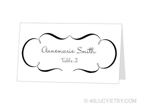 avery template number for place cards instant avery place card template by 43lucy on