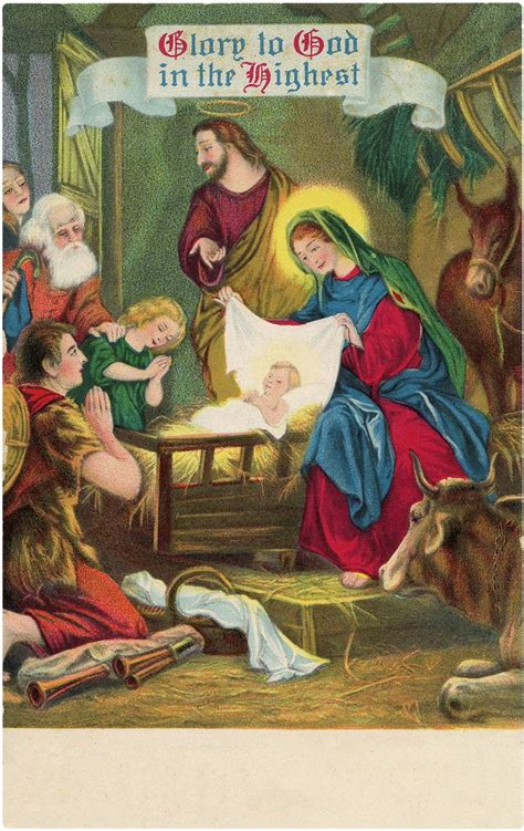 vintage christmas nativity images  graphics fairy