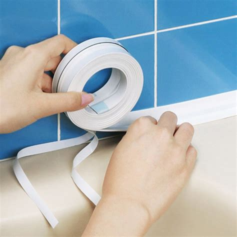how to seal bathtub kitchen bathroom wall sealing tape waterproof mould proof
