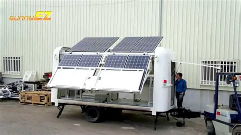 Mobile Solar Power Station Off Grid Or Grid Tied Youtube Solar Energy Light Price In India