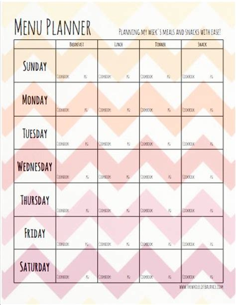 Best 25 Meal Planning Templates Ideas On Pinterest Meal Planning Printable Meal Planner Paleo Meal Planning Template