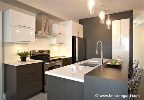 armoire de cuisine moderne contemporaine m 233 lamine