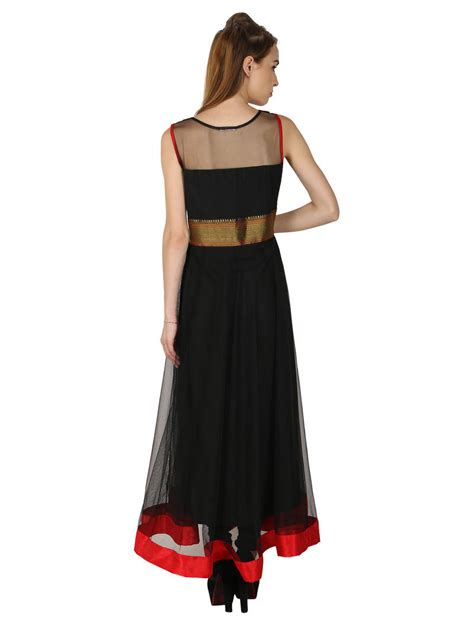 boat neck for kurti buy black georgette embroidered stitched kurti online