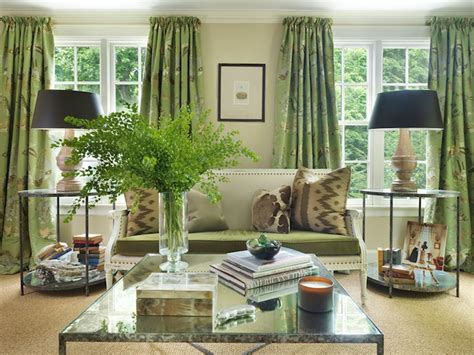 green curtains for living room green curtains cottage living room hudson interior designs