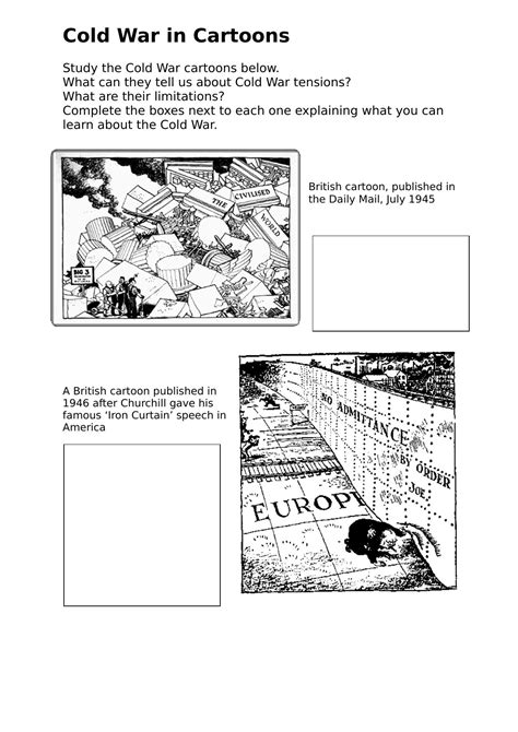 War Worksheets by Cold War Worksheet Bluegreenish
