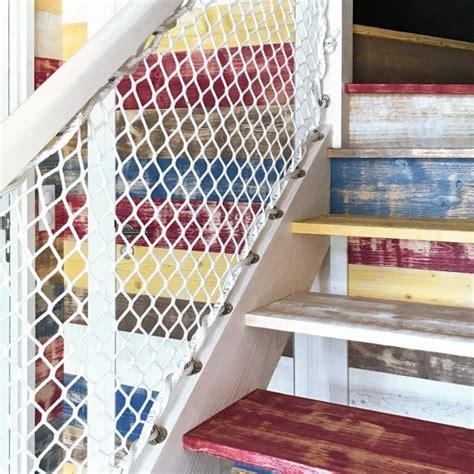 barandilla escalera exterior red de seguridad para escalera exterior