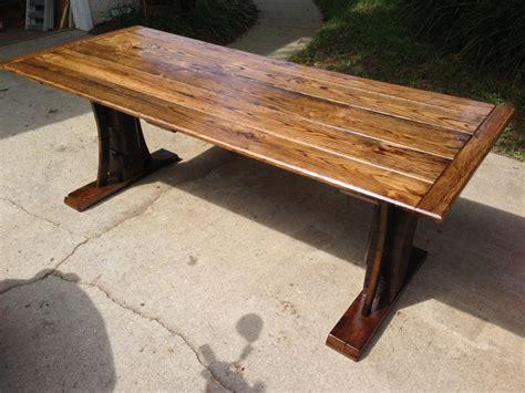 Reclaimed Oak Dining Table Reclaimed Oak Dining Table By Stephenschaad Lumberjocks Woodworking Community
