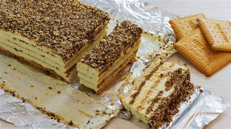 biscuit cake no bake biscuit cake with pudding recipe happyfoods