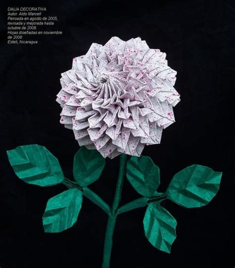 Origami Dahlia - 450 best origami flowers images on origami