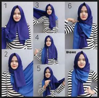 Tutorial Jilbab Pashmina Anak Muda | tutorial memakai hijab pashmina simpel mudah kreasi