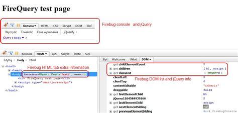 firebug console log firequery firebug extension for jquery development pgs