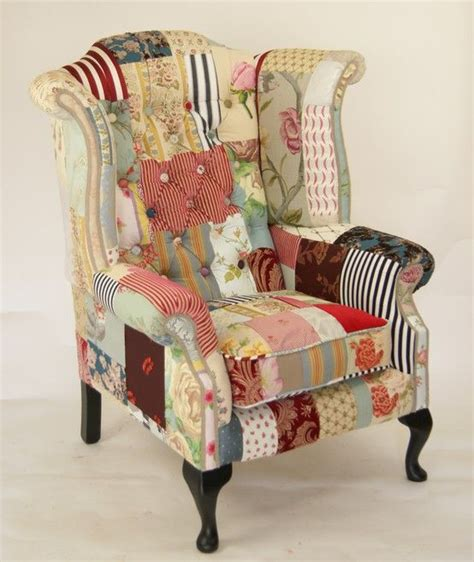 Patchwork Wing Chair - the patchwork start a home living room