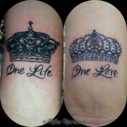 his and her crown tattoos images