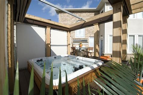 hot tub retractable awning 1000 images about hot tubs on pinterest seasons the