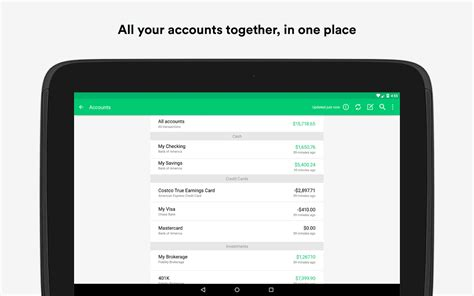 mint apk mint budget bills finance apk android finance apps