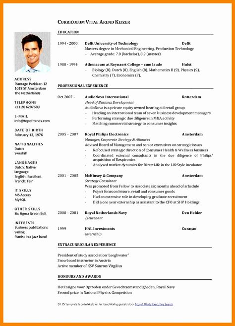 Curriculum Vitae Resume Sles Pdf 12 cv exles pdf besttemplates
