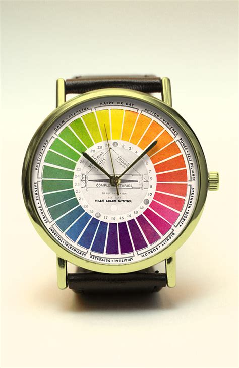 Handcrafted Watches - color wheel handmade color abstract by