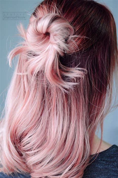 rose gold hair color another gorgeous rose gold hair color for sarah we did a