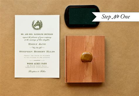diy rubber st step by step diy wedding invitations wedding invitation