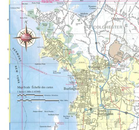 burlington vt map maps of burlington vt