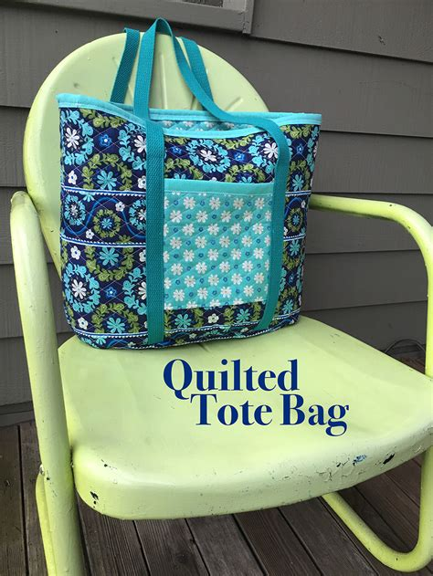 pattern fabric making sew a quilted fabric tote bag national sewing circle