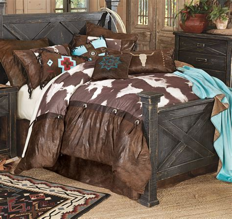 Cowhide Comforter Set high plains cowhide bedding collection