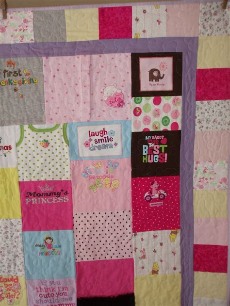 Patchwork Quilt Made From Baby Clothes - 10 best images about quilts made out of baby clothes on