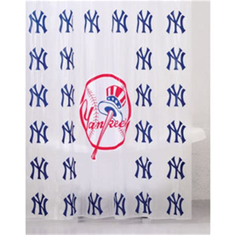 yankee shower curtain shop belle view vinyl new york yankees patterned shower