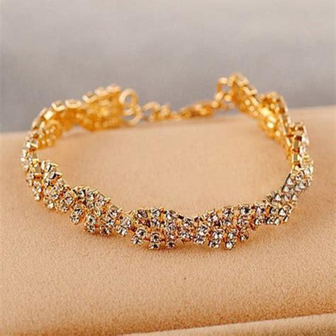 Rhinestone Chain Bracelet gold silver rhinestone chain bracelet