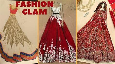 fashion madness fashion sketch glitter dress