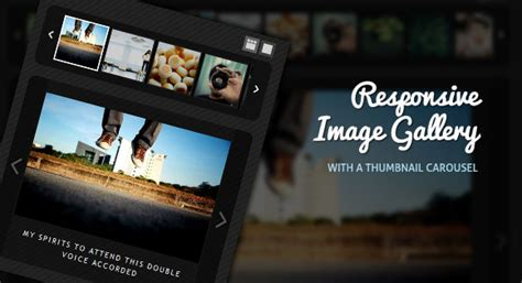 tutorial jquery image gallery responsive image gallery with thumbnail carousel