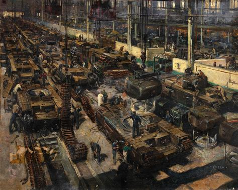 Production Artist by File Inf3 17 Production Of Tanks Artist Terence Cuneo 1939 1946 Jpg Wikimedia Commons