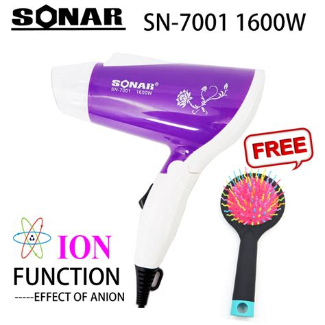Hair Dryer Sonar sonar sn 7001 mini portable foldable travel hair dryer
