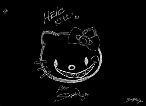 Wallpaper Hello Kitty Black And White | black hello kitty backgrounds wallpaper cave