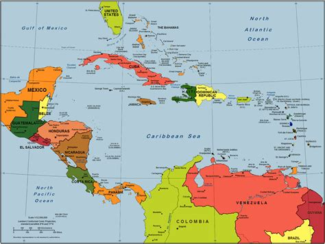 central america the caribbean map island caribbean islands map
