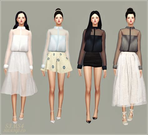 My Sims 3 Blog my sims 4 blog sheer blouse by marigold