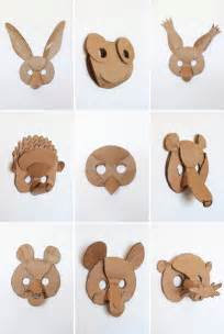 Cardboard Mask Template by We Constructed Them Out Of Cardboard To See How To