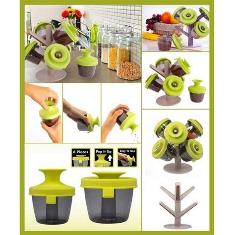 Tempat Bumbu Dapur Mini pop up spice rack tempat bumbu green jakartanotebook