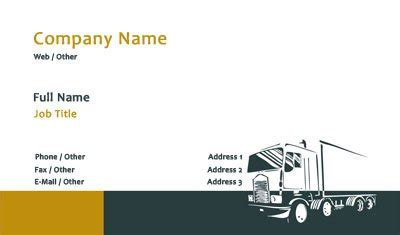 transport business cards templates free business card templates trucking