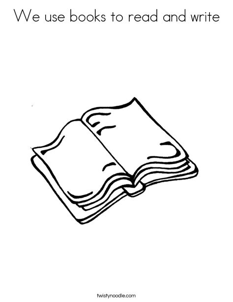 uses for coloring book pages we use books to read and write coloring page twisty noodle