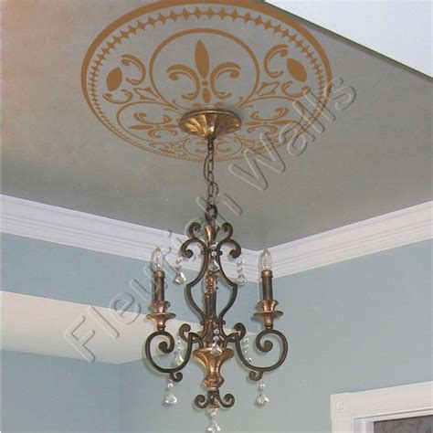 shabby chic ceiling fan ceiling medallion vinyl ceiling decal shabby chic