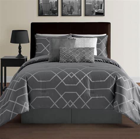 hton 7 piece modern geometric lightweight comforter set