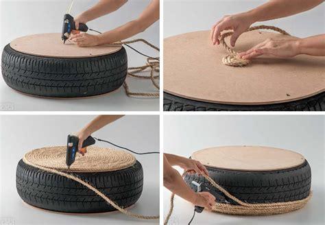 Pouf Avec Pneu Et Corde un pouf diy avec pneu et corde bnbstaging le