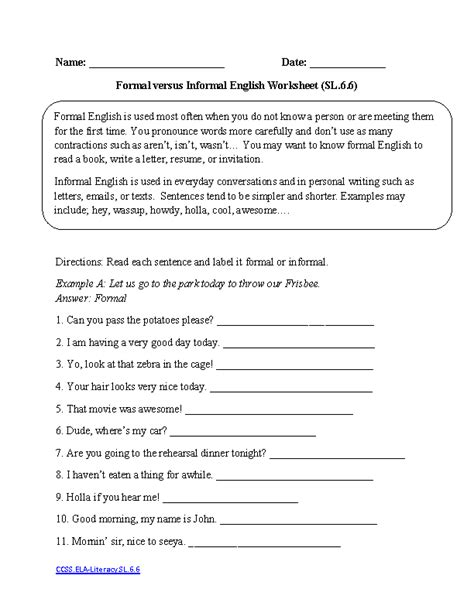 free printable english comprehension worksheets for grade 6 17 best images of english grammar worksheets grade 6