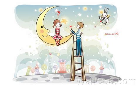 wallpaper sweet couple cartoon heart for you valentine couple valentine s day