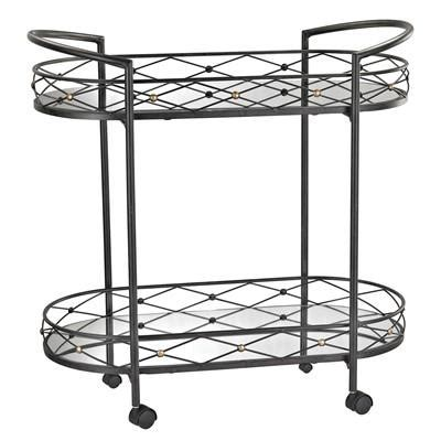 oval clear lucite bar cart products, bookmarks, design