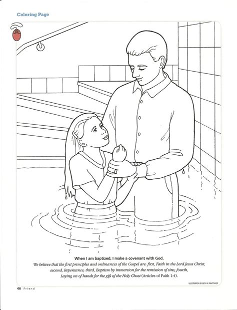 free coloring pages of baptism of children